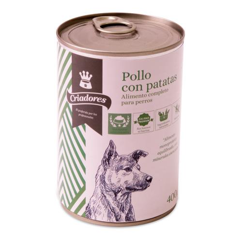 Alimento húmido para cães Criadores frango com batatas 400 gr