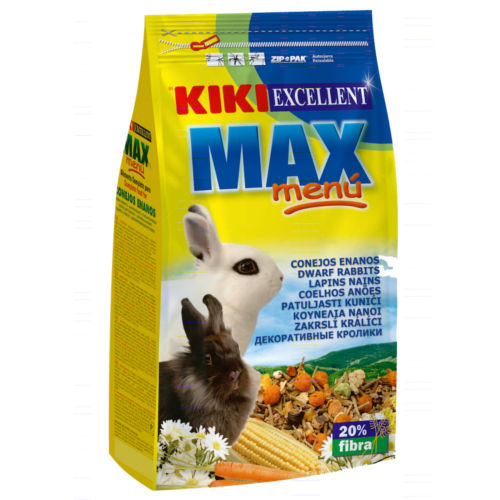 Alimento para Coelhos anões KIKI MAX MENU