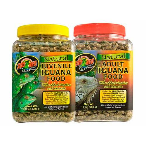 Alimento completo para iguanas adultas