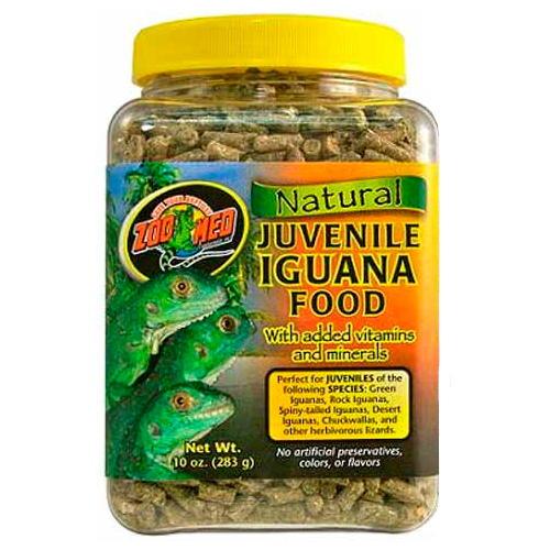 Alimento completo para iguanas jovens