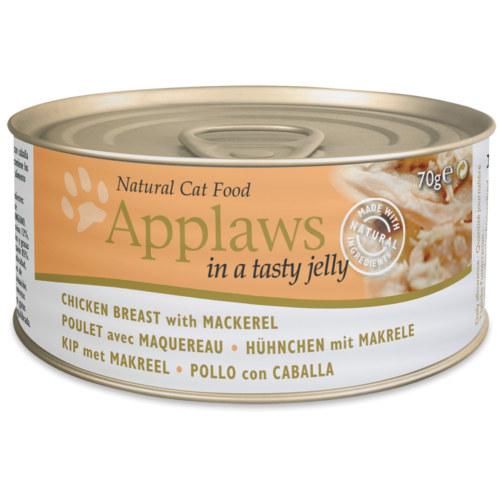 Applaws comida húmida para gatos de frango com cavala em gelatina