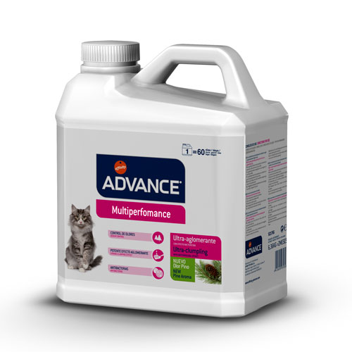 Areia Aglomerante para Gatos Advance Multiperformance