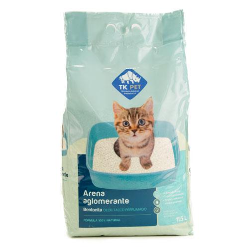 Areia aglomerante para gatos cheiro de pó talco perfumado TK-Pet