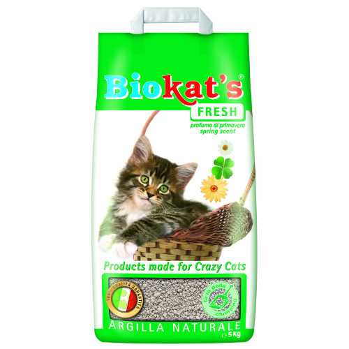 Areia aglomerante para gatos perfumada Biokat´s Fresh