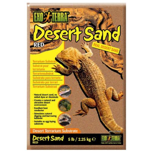 Areia do deserto Vermelha para terrário