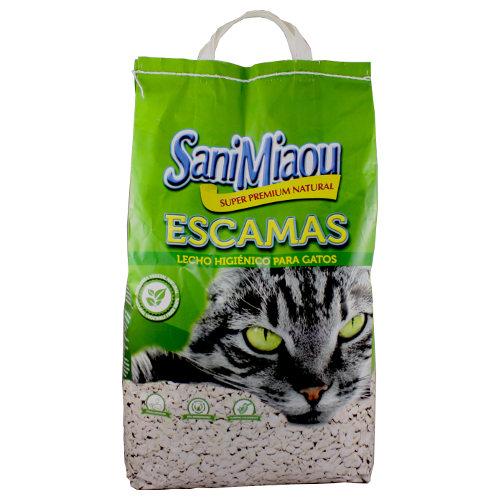 Areia para gatos SaniMiaou em escamas