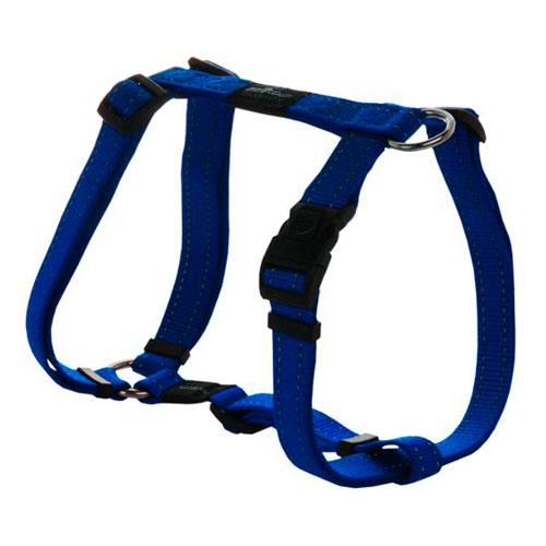 Peitoral para cães Rogz Utility azul com costura refletora