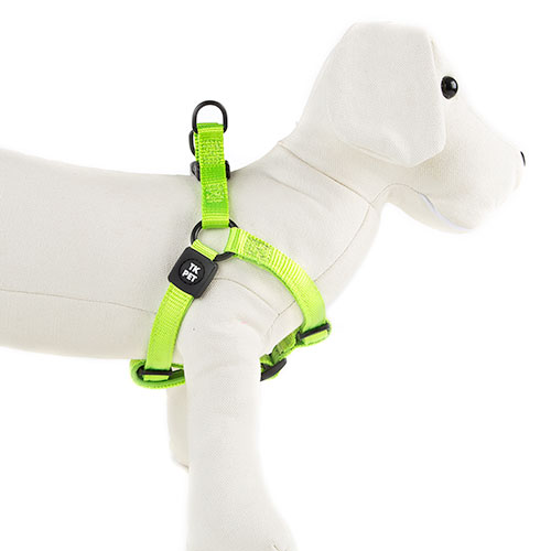 Arnês para cães TK-Pet Neo Classic verde lima de nylon e neopreno