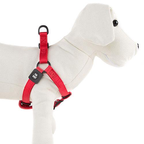 Arnês para cães TK-Pet Neo Classic vermelho de nylon e neopreno