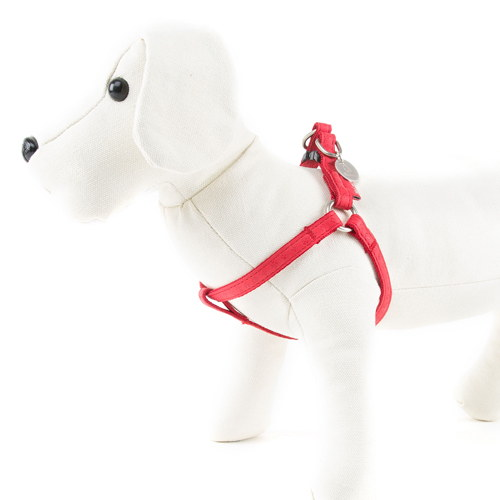 Arnês para cães MacLeather Classic Cor Vermelho