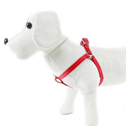 Arnés para cães de Nylon linha Basic Cor Vermelho