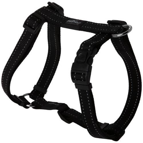 Arnês para cães Rogz Utility preto com costura refletora