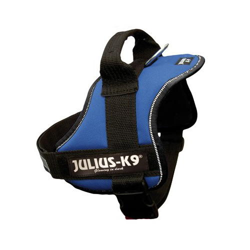 Arnés Robusto Azul Julius K9 para Cães Médios e Grandes