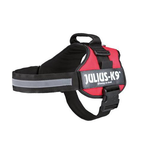 Arnés Robusto Vermelho Julius K9 para Cães Médios e Grandes