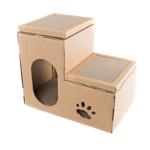 Arranhador para gatos 2 em 1 TK-Pet Cat Home