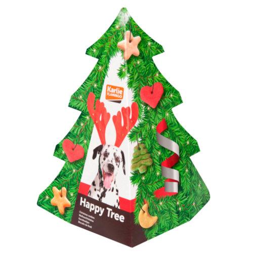 Árvore de natal com biscoitos para cães