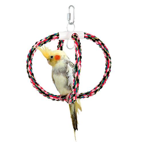 Balanço de algodão para aves