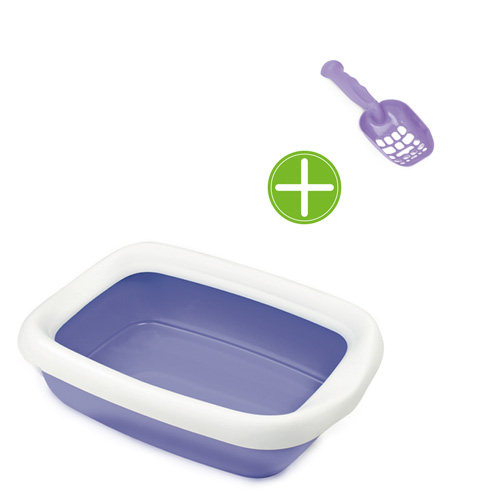 Bandeja sanitária aberta exclusiva com Pá fácil limpieza