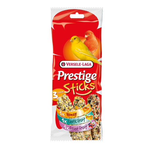 Sticks para canários Versele Laga Prestige Sticks 3 sabores