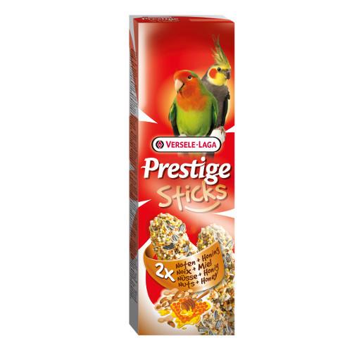 Sticks para periquitos grandes e caturras Versele Laga Prestige nozes e mel