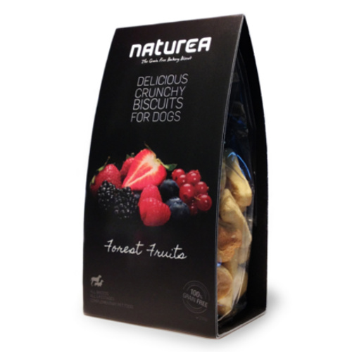 Biscoitos sem cereais para cães Naturea com frutos do bosque