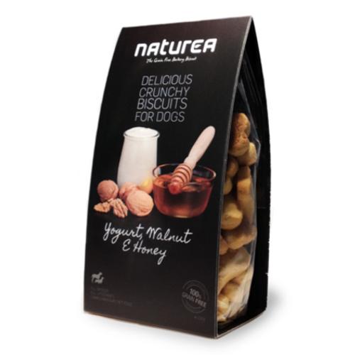 Biscoitos sem cereais para cães Naturea com iogurte e nozes