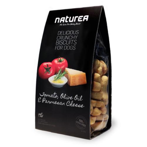 Biscoitos sem cereais para cães Naturea com tomate e queijo