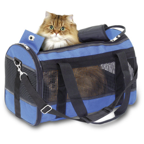 Bolsa de transporte para cães e gatos Divina azul