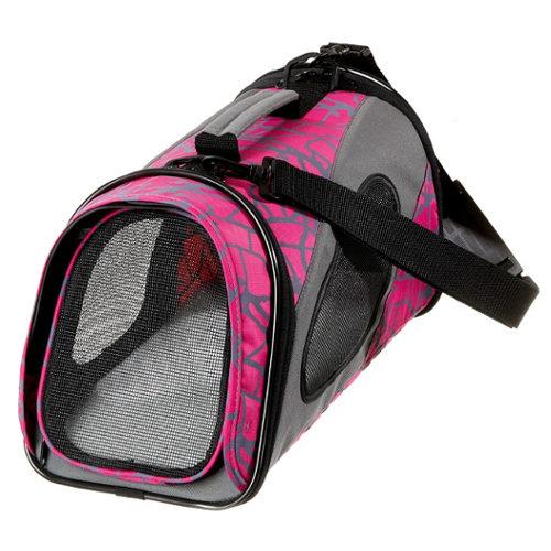 Bolsa de transporte para cães e gatos rosa