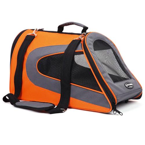 Bolsa de transporte para cães e gatos Kibo Slide laranja