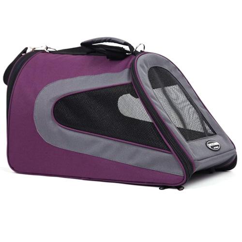 Bolsa de transporte para cães e gatos Kibo Slide roxa