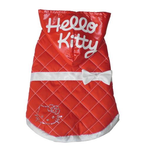 Bomber vermelho acolchoado com capuz Hello Kitty