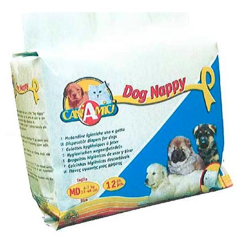 Fraldas descartáveis para cães