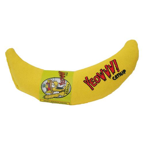 Brinquedo com catnip para gatos Banana Yeowww!