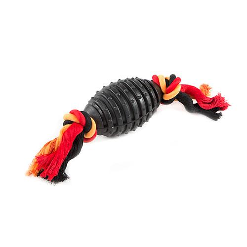 Brinquedo para cães TK-Pet SportDog bola de rugby compacta com corda
