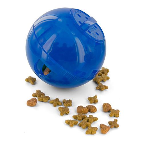 Brinquedo para gatos SlimCat bola porta snacks azul