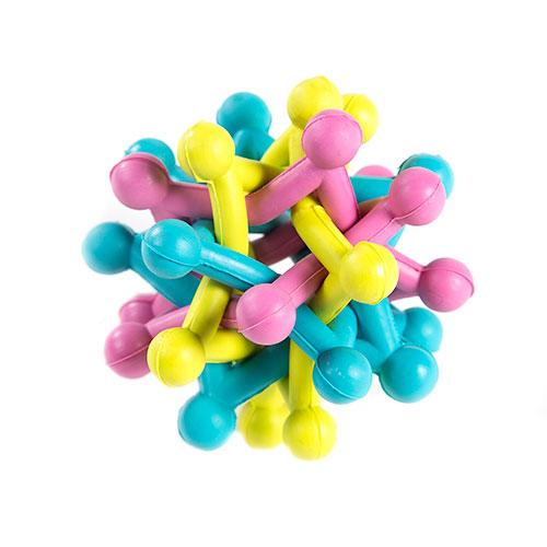 Brinquedo para cães TK-Pet Nature Toy bola kamikaze de borracha