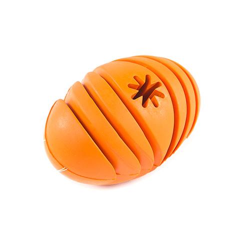 Brinquedo para cães TK-Pet Snacks & Play bola de rugby porta Snackss