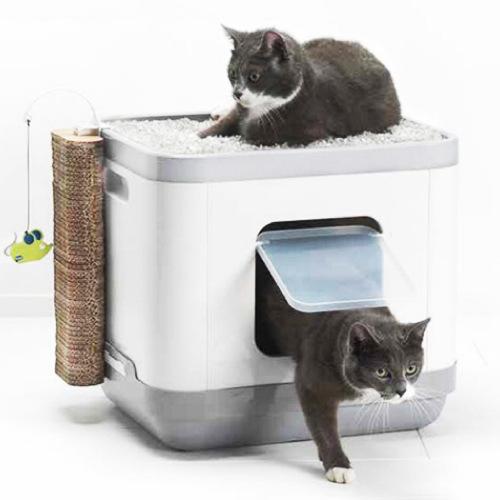 Caixa de areia para gatos Catconcept com almofada e arranhador