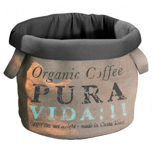Cama de desenho saco de café Pura Vida