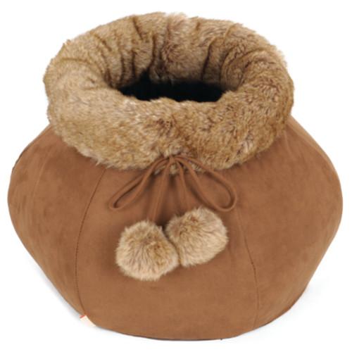 Cama em forma de saco para gatos Brownie Jug