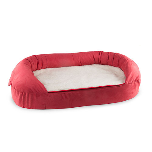 Cama ortopédica para cães TK-Pet oval cor bordeaux