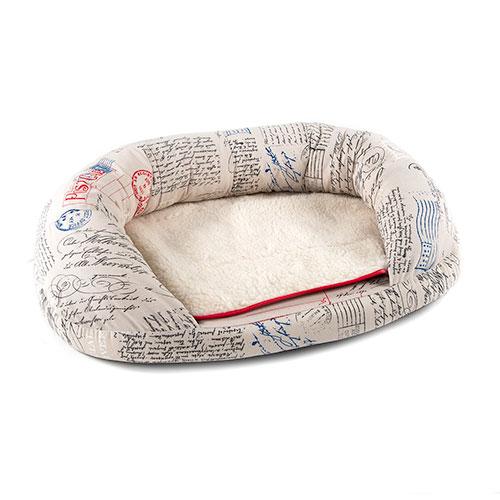 Cama para cães e gatos conforto extra TK-Pet Post tipo donut