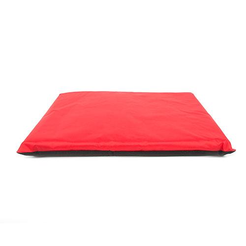 Cama para cães e gatos TK-Pet Freshtouch tipo colchão com capa removível vermelha