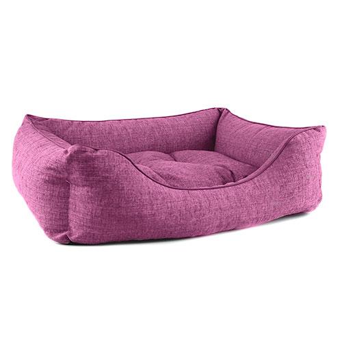 Cama para cães TK-Pet Iris tipo berço acolchoada cor roxa deluxe