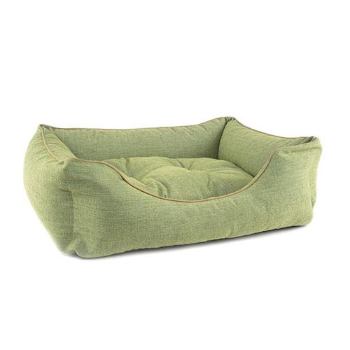 Cama para cães TK-Pet Iris tipo berço acolchoada cor verde deluxe