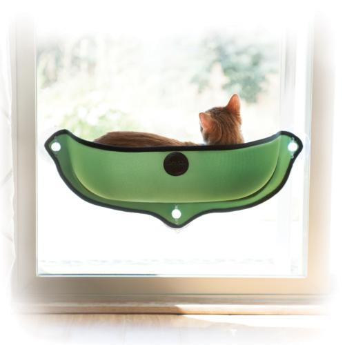Cama para a janela com ventosas para gatos