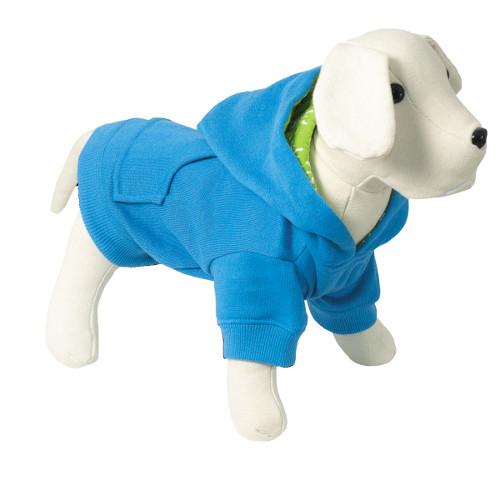 Camisola com capuz para cães Colors azul com forro interior