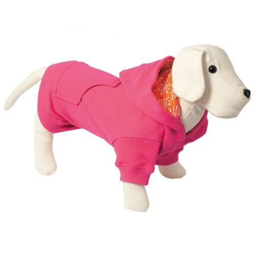 Camisola com capuz para cães Colors fúchsia com forro interior