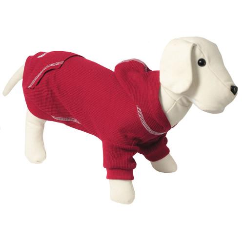 Camisola com capuz para cães Signature cor grená